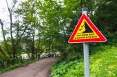 Landslides road sign — Stock Photo