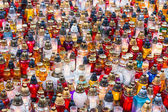 Candles in the cemetery — Stockfoto