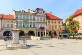 Bielsko Biala, Poland - September 07, 2014: View of the historical part of Bielsko Biala in the summer, sunny day — Stock Photo