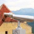 Large coin operated telescope used for viewing mountains — Stock Photo #61297175