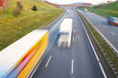 Traffic on a highway — Stock Photo
