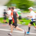 KRAKOW, POLAND - MAY 18 : Cracovia Marathon. Runners on the city streets on May 18, 2014 in Krakow, POLAND — Stock Photo #62620433