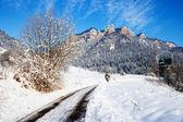 Winter landscape in Pieniny Mountains, Three Crowns, Poland — Stock Photo