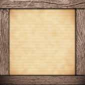 Wood frame with old paper — Foto de Stock