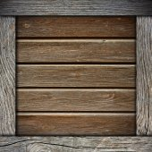 Wood wall background with frame — Стоковое фото