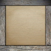 Wood frame with old paper — Stock Photo