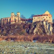 Benedictine monastery in Tyniec near Cracow, Poland. Vintage color tone — Stock Photo #68107151