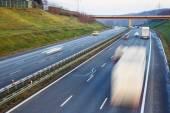Ruch na autostradzie — Zdjęcie stockowe
