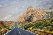 Highland highway in Tenerife, Canary Island, Spain — Stock Photo