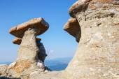 Babele - Geomorphologic rocky structures in Bucegi Mountains, Romania — Stock Photo