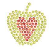 Big apple of small apples — Stock Photo