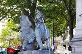 Chimera statue at Fontaine Saint Michel, Paris, France. — Stock Photo
