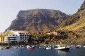 La Gomera island. The marina of Valle Gran Rey, Canary, Spain — 图库照片