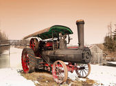 Old steam engine — Stock Photo