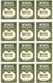 Wine stamps  — Stock Photo