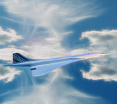 Air France Concorde — Stock Photo