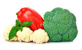 Bell pepper, cauliflower and broccoli  — Stock Photo