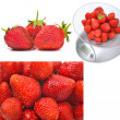 Kitchen scales with ripe strawberries — Stock Photo #55413081