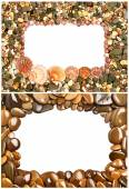 Frame made of seashells and stones — Stock Photo