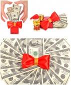 Greedy hand grabs money — Stock Photo