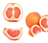 Ripe grapefruit and segments — Stock Photo