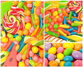 Bright sweets, candies and jelly sweets — Foto de Stock