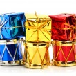 Christmas drums, baubles and toys — Stock Photo #57636965