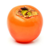 Ripe persimmon fruit isolated — Stock Photo