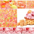 Turkish sweet delights in icing sugar in the basket isolated on  — Stock Photo #61732621