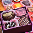 Chocolate sweets in gift boxes — Stock Photo #74112129