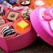Chocolate sweets in gift boxes — Stock Photo #74112135