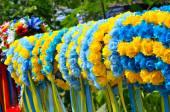 Ghirlanda tradizionale ucraino in fiera — Foto Stock