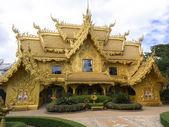 Wat Rong Khun, Golden Restroom. — Stock Photo