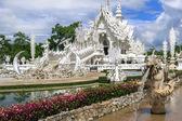 Wat Rong Khun Fountains — Stock Photo