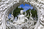 Wat Rong Khun, Architectural Details, Buddha. — Stock Photo