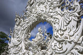 Wat Rong Khun, Architectural Details. Sitting Buddha. — Stock Photo