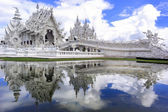 Wat Rong Khun, Reflection. — Stock Photo
