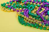Colorful Mardi Gras beads — Stock Photo
