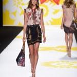 Model walks the runway at Desigual during Mercedes-Benz Fashion Week Spring 2015 — Stock Photo #52752855