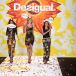 Models walk the runway finale at Desigual during Mercedes-Benz Fashion Week Spring 2015 — Stock Photo #52756733