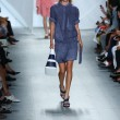 Model walks the runway at Lacoste during Mercedes-Benz Fashion Week — Stock Photo #52986583