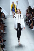 Model walks the runway at Lacoste during Mercedes-Benz Fashion Week — 图库照片