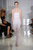 Model walks the runway at Ralph Rucci during Mercedes-Benz Fashion Week — Stock Photo