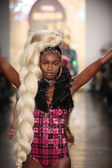 Models walk the runway finale during The Blonds 2015 fashion show — Stock Photo