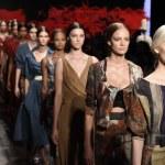 ������, ������: Models walk the runway finale at Donna Karan New York show