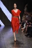 Model walks the runway at Donna Karan New York show — Stockfoto
