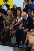 CNMI President Mario Boselli (R) attend the the MSGM show — Stock Photo