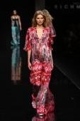 Model walks the runway during the John Richmond show — Stock Photo