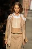 Model walks the runway at the Cividini Show — Photo