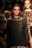 Models walk the runway finale at the Cividini Show — Zdjęcie stockowe